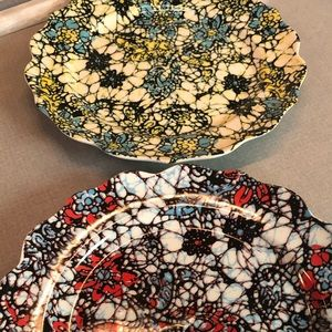 2 beautiful dinner plates from Anthropologie